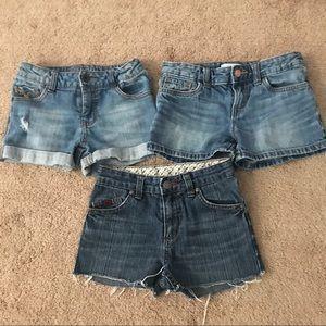Bundle of 3 Girls' Jeans Shorts